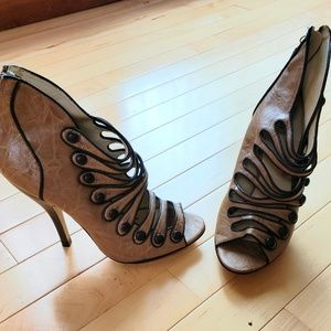 Military style detailed heels